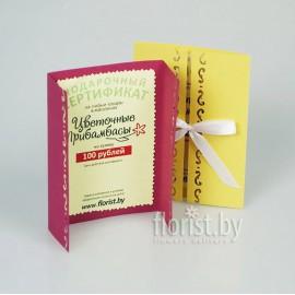 Подарочный сертификат на сумму 100.00 руб
