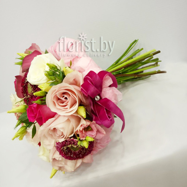 """Букет невесты """"Розовый фламинго"""""""