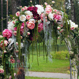 """Декор арки для выездной регистрации """"Трепетная любовь"""""""